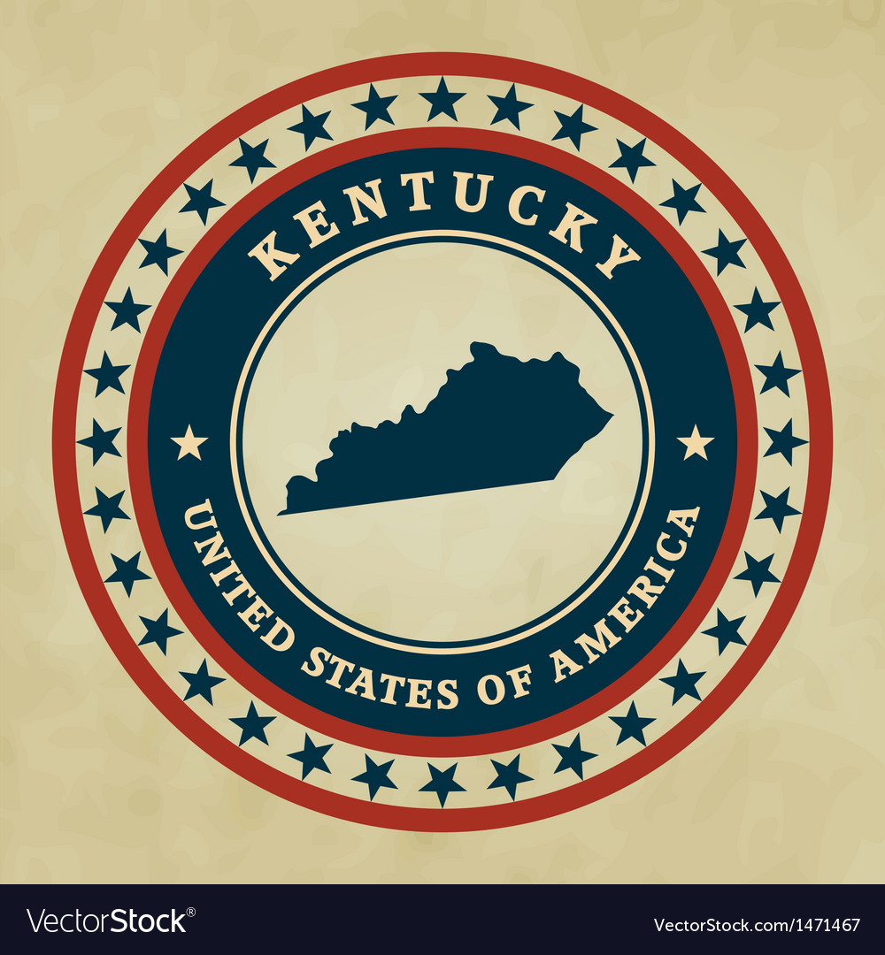 Vintage label kentucky vector | Price: 1 Credit (USD $1)