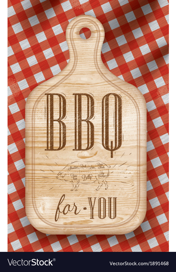Bread cutting light bbq vector | Price: 1 Credit (USD $1)