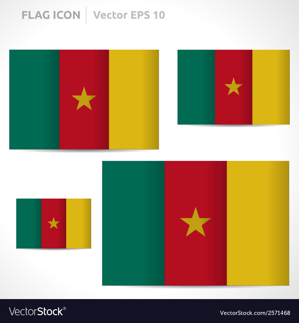 Cameroon flag template vector | Price: 1 Credit (USD $1)