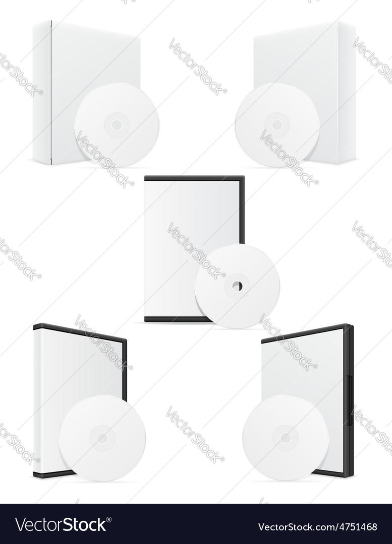 Cd and dvd bisk box packing 09 vector | Price: 1 Credit (USD $1)