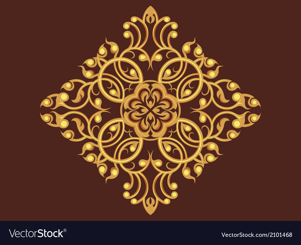 Golden art pattern vector | Price: 1 Credit (USD $1)