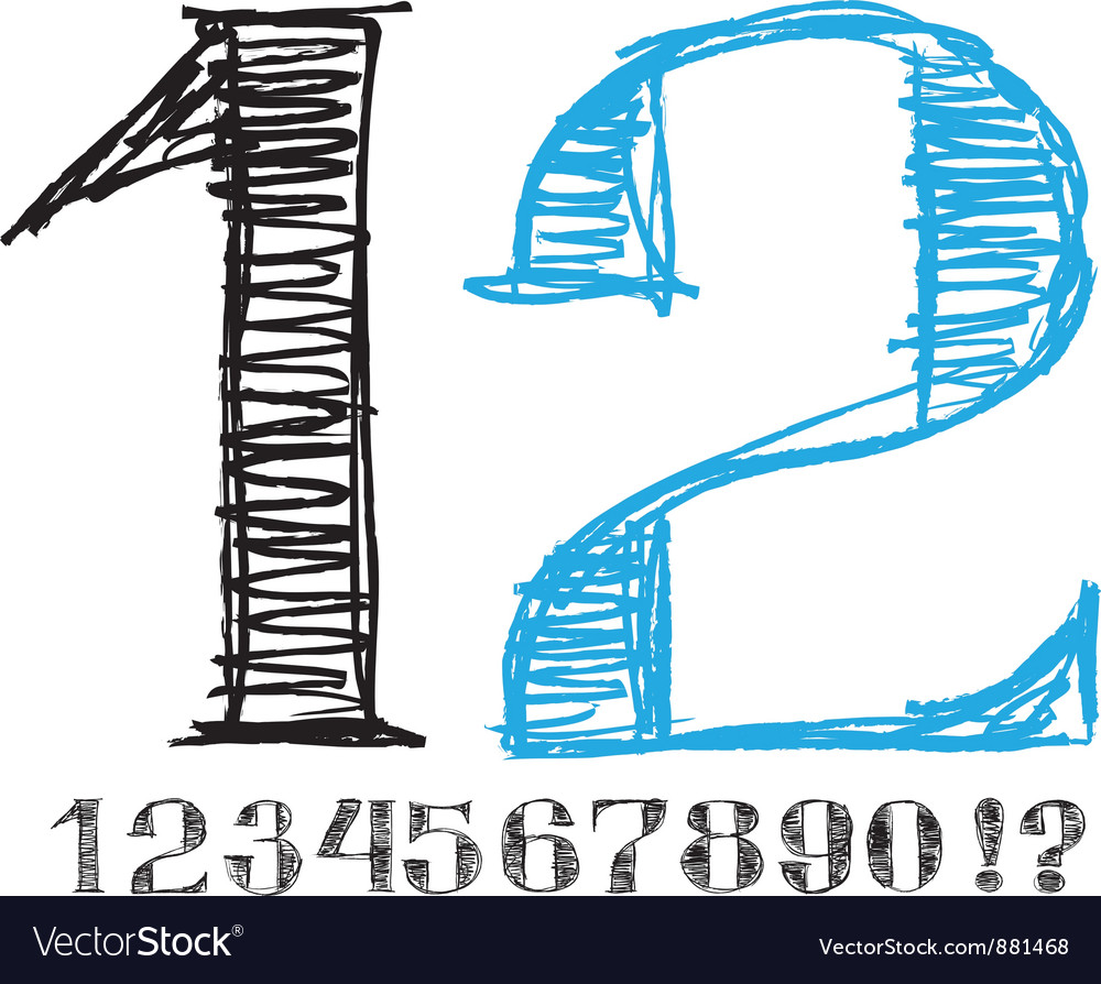 Sketch alphabet new 05 vector | Price: 1 Credit (USD $1)