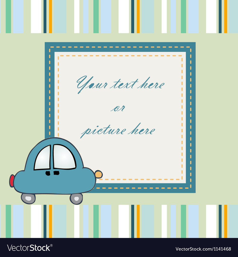 Sweet baby card or frame vector | Price: 1 Credit (USD $1)