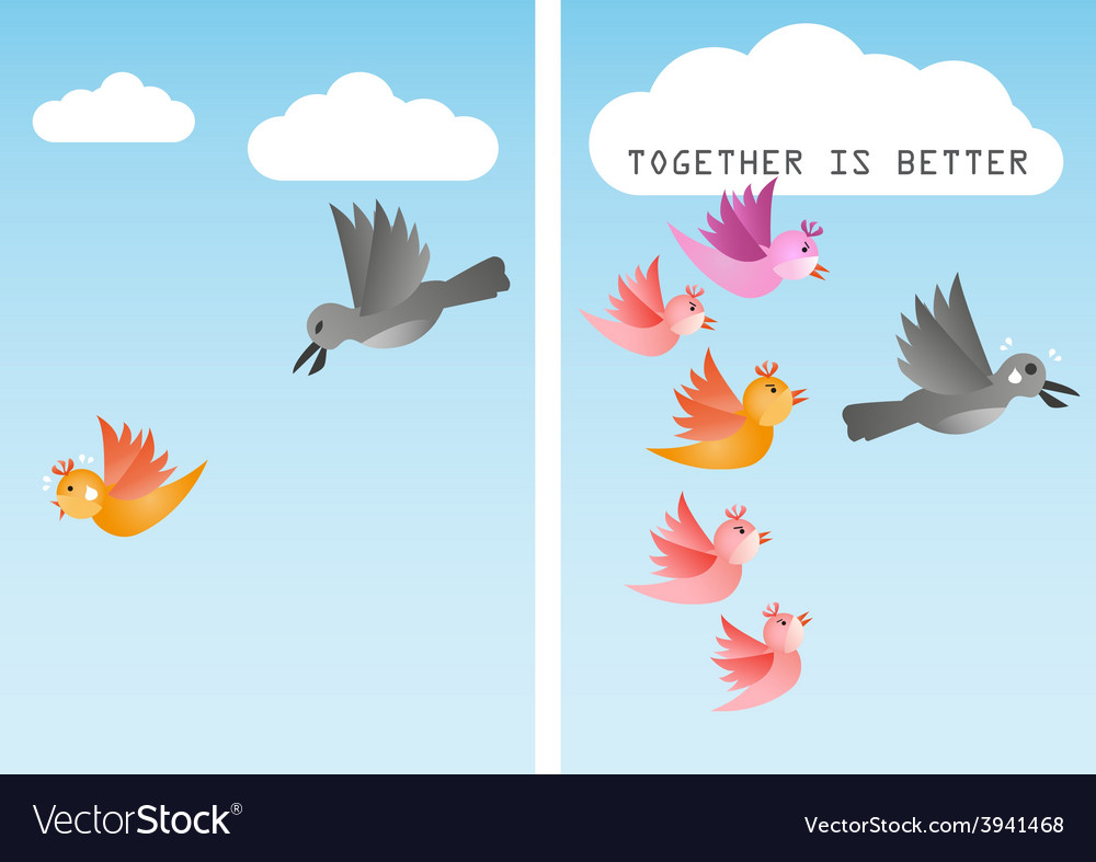 Unite together is better vector | Price: 1 Credit (USD $1)