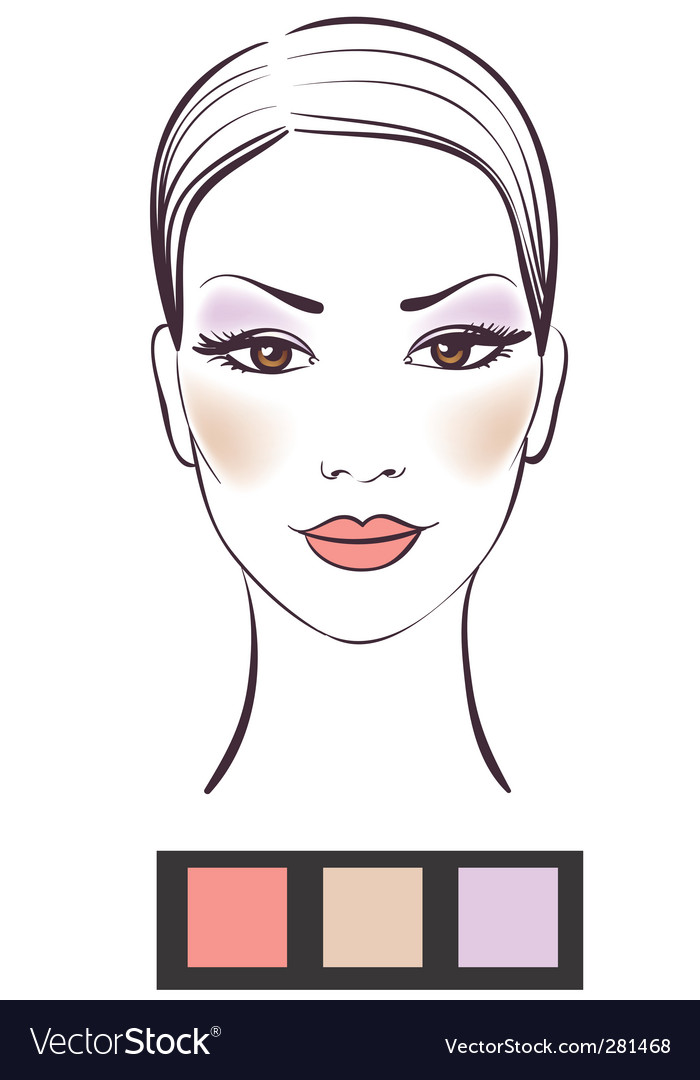 Women's makeup vector | Price: 1 Credit (USD $1)
