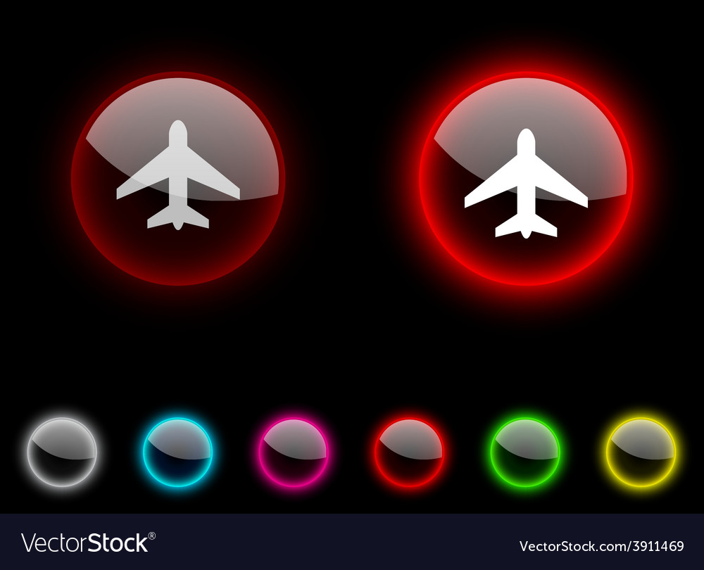 Aircraft button vector | Price: 1 Credit (USD $1)