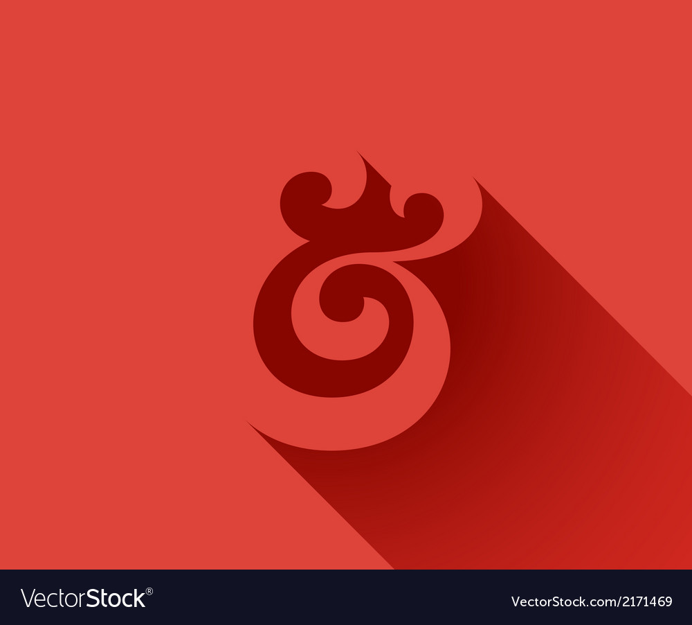 Ampersand shadow vector | Price: 1 Credit (USD $1)