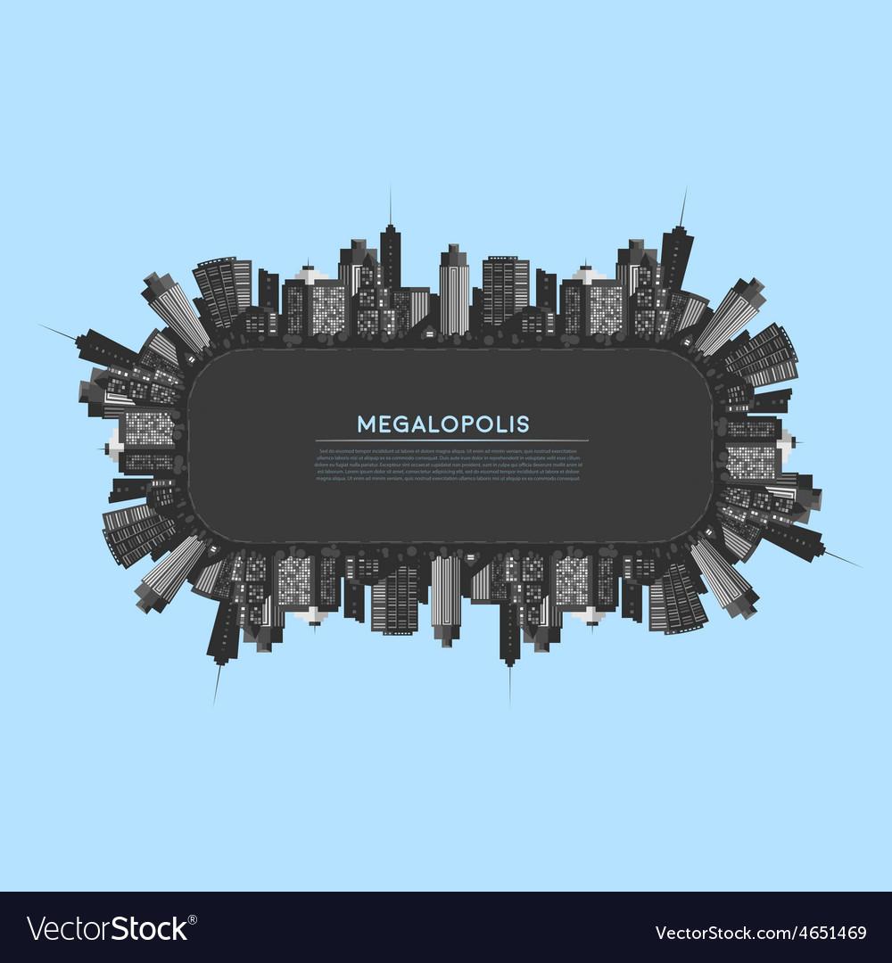 Banner modern city vector | Price: 1 Credit (USD $1)
