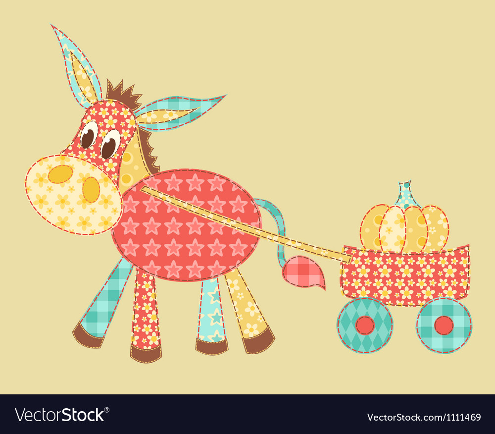 Burro patchwork vector | Price: 1 Credit (USD $1)