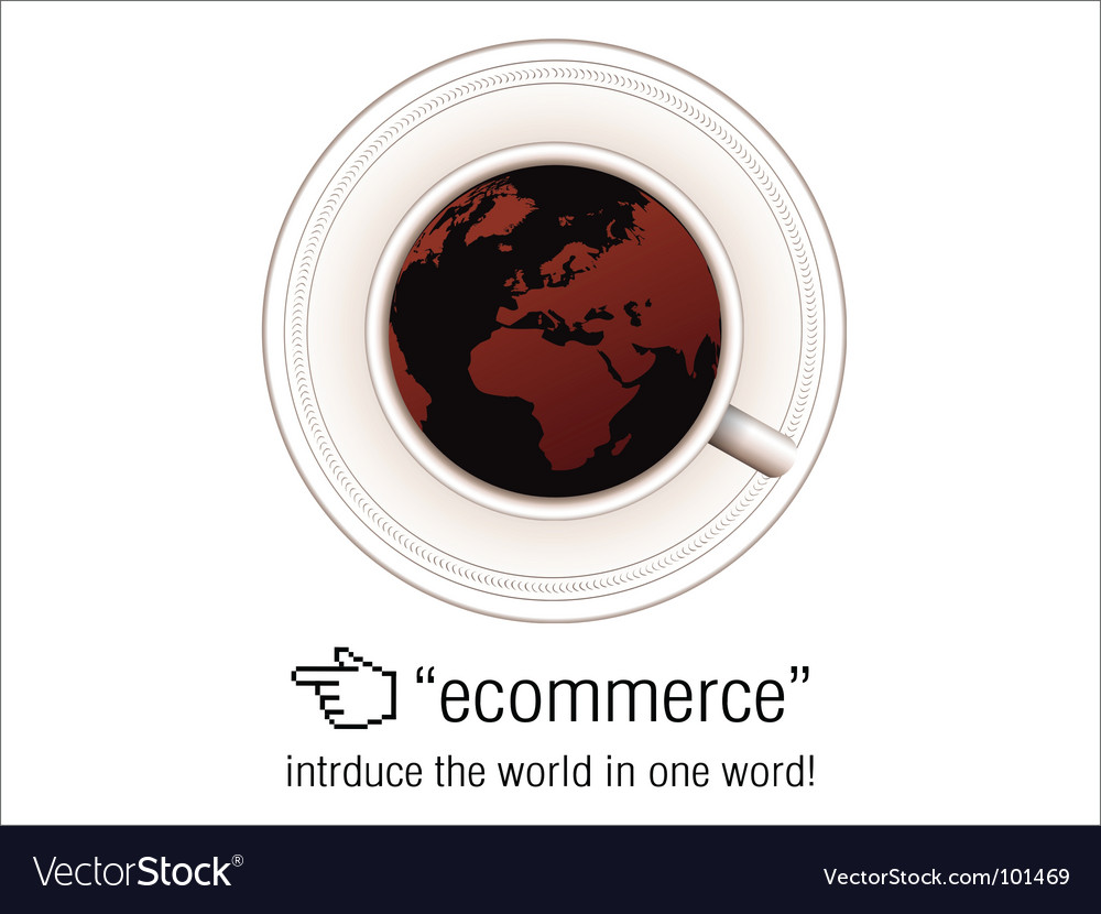 E-commerce coffee vector | Price: 1 Credit (USD $1)