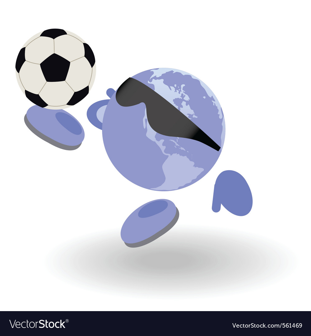 Football world vector | Price: 1 Credit (USD $1)