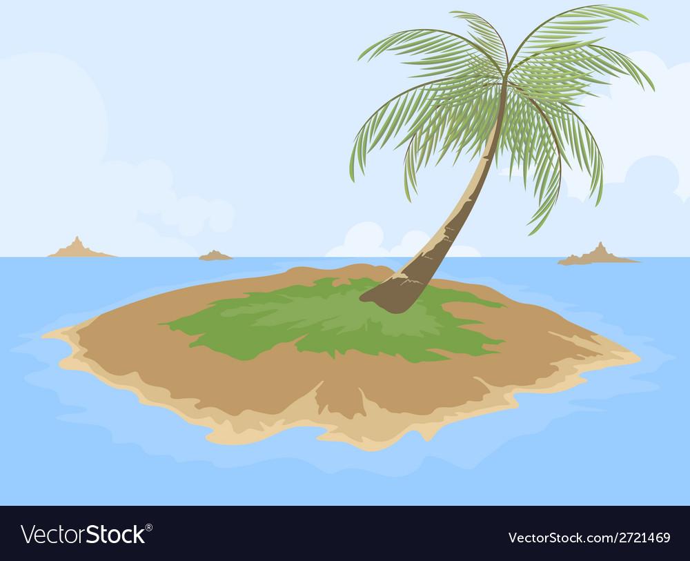 Island cartoon scene vector   Price: 1 Credit (USD $1)