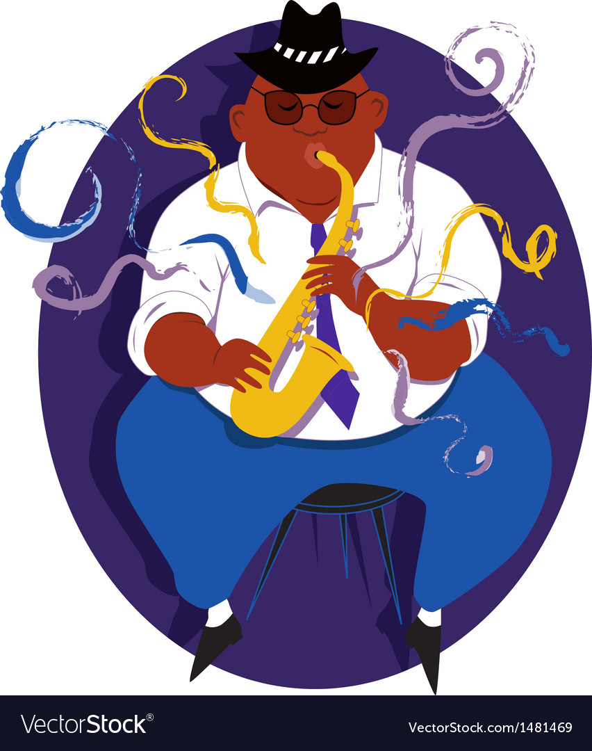 Jazz saxophone player vector | Price: 3 Credit (USD $3)