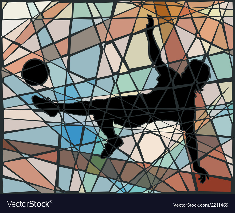 Kick mosaic vector | Price: 1 Credit (USD $1)