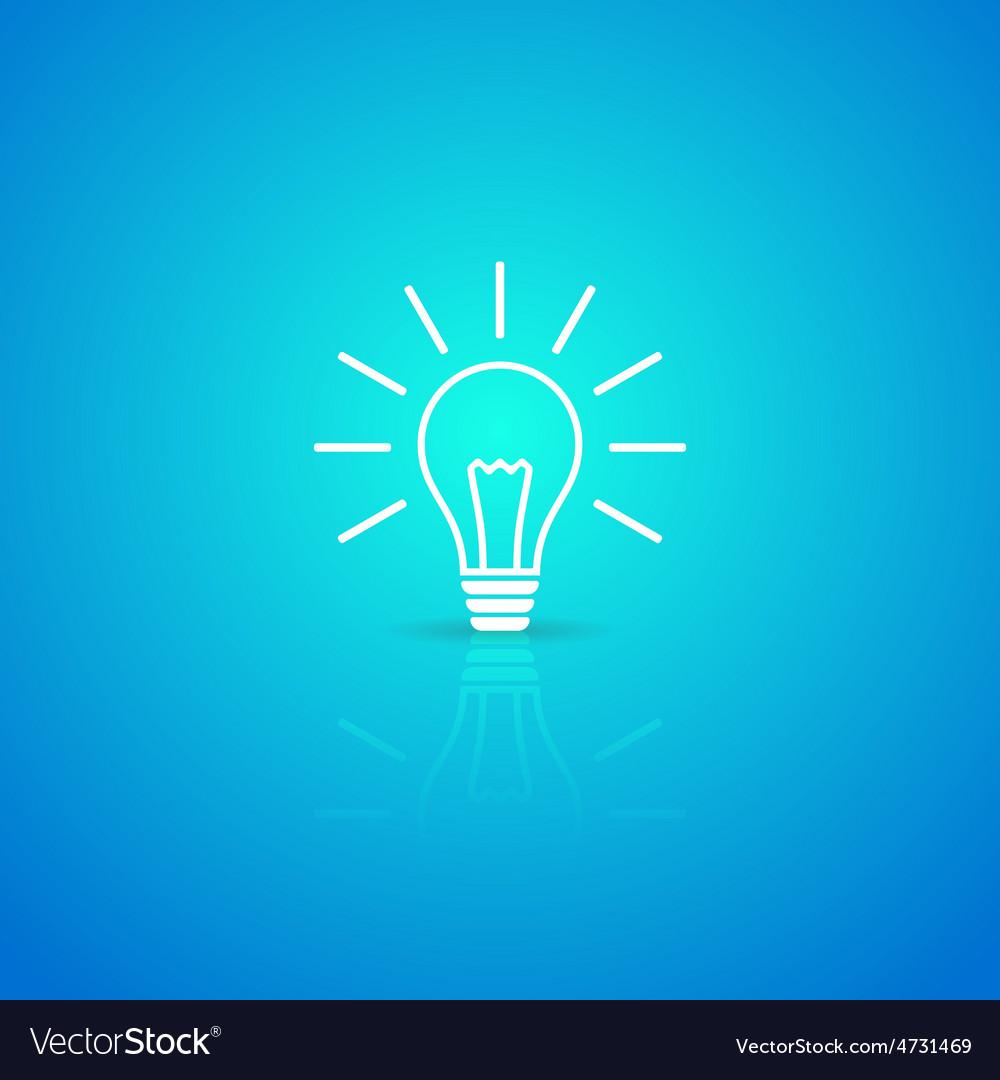 Light bulb icon vector | Price: 1 Credit (USD $1)