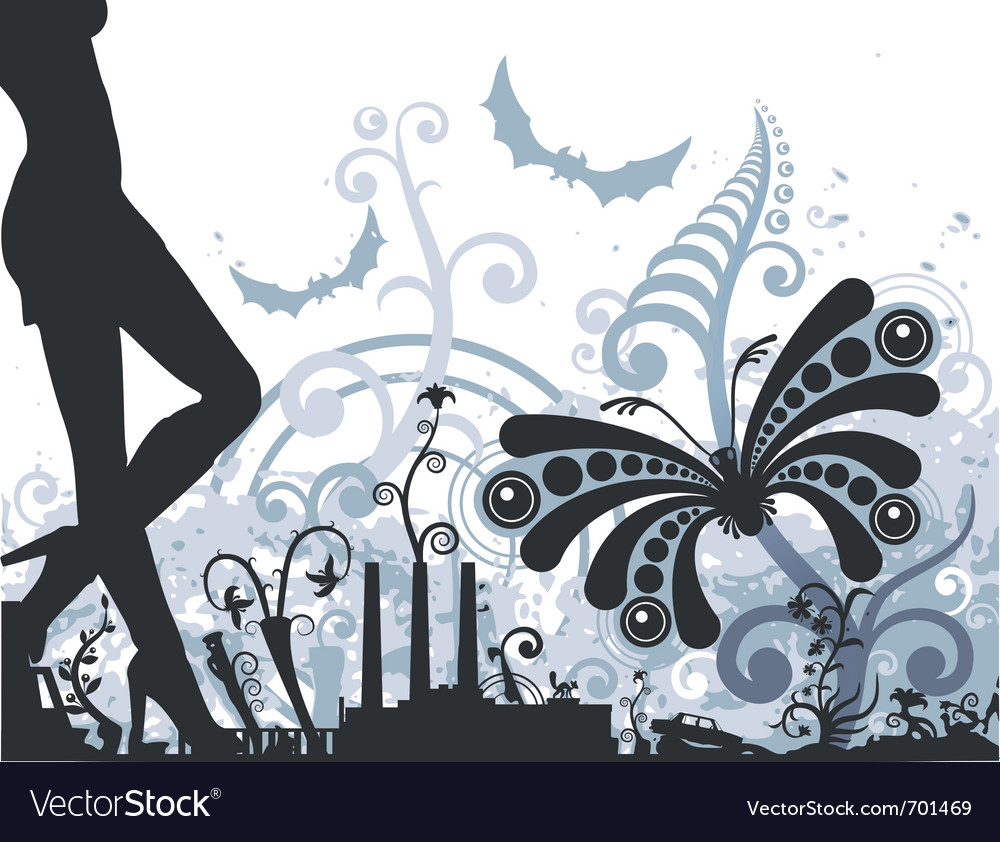 Night butterfly vector | Price: 1 Credit (USD $1)