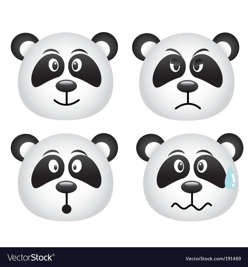 Pandas face vector | Price: 1 Credit (USD $1)