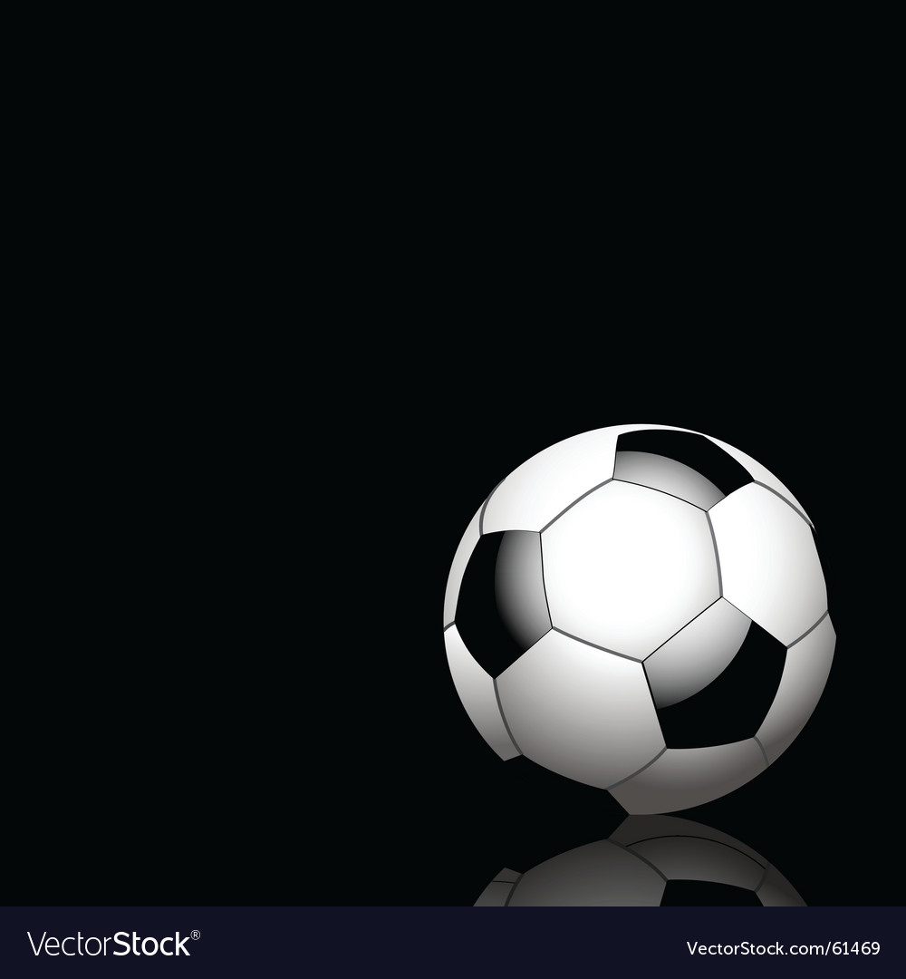 Reflected football vector | Price: 1 Credit (USD $1)