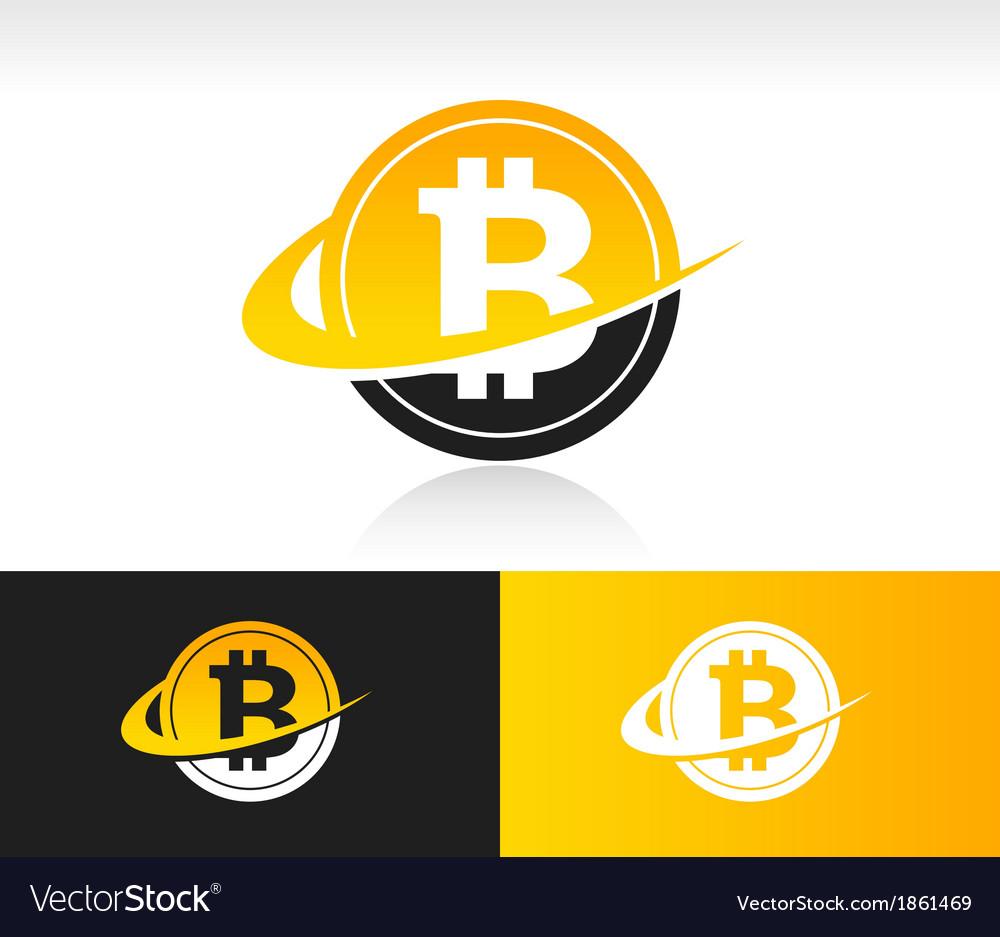 Swoosh bitcoin icon vector | Price: 1 Credit (USD $1)
