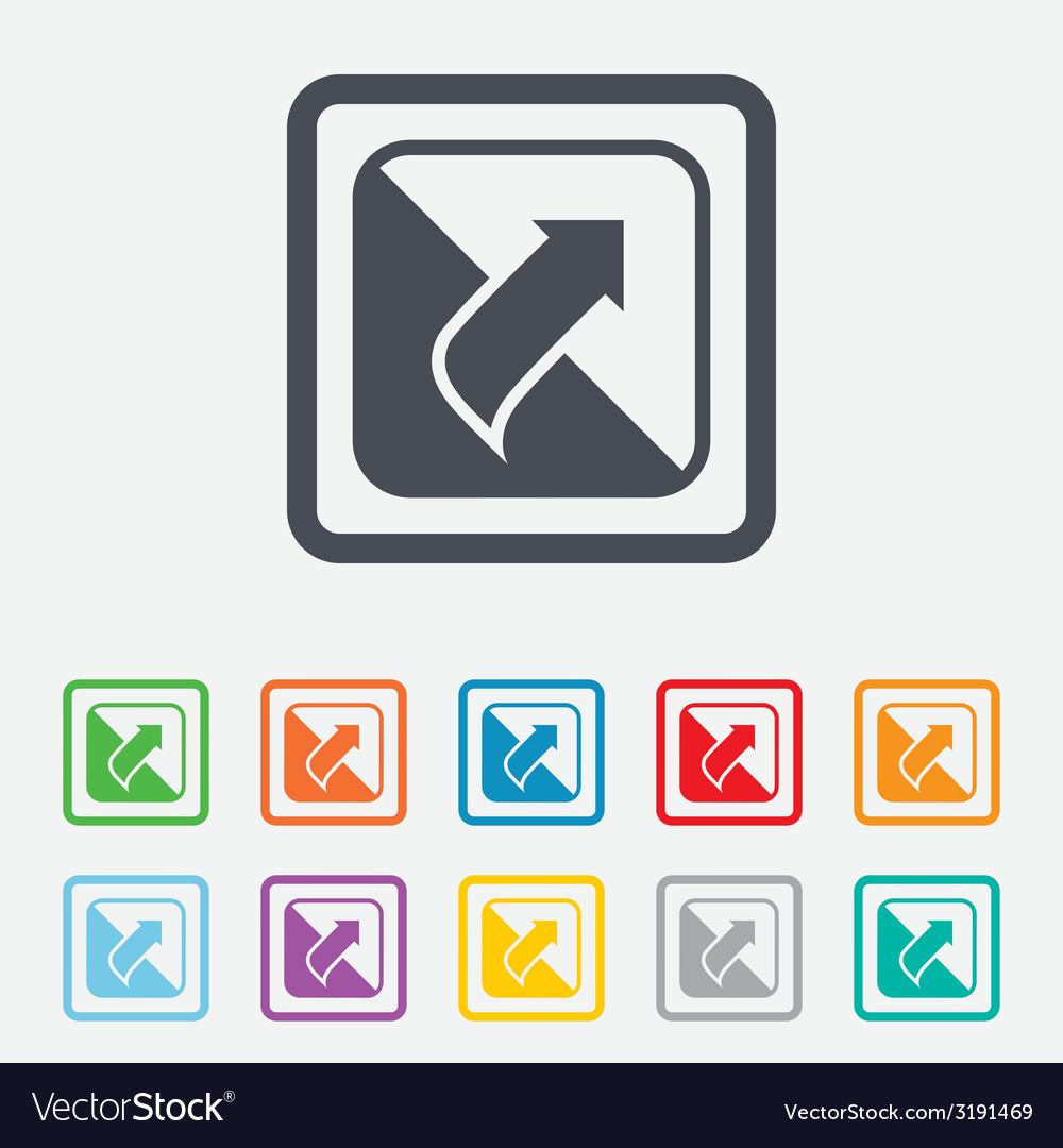 Turn page sign icon peel back sheet corner vector | Price: 1 Credit (USD $1)
