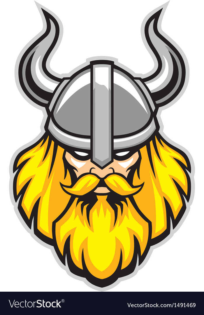 Viking warrior head mascot vector | Price: 1 Credit (USD $1)