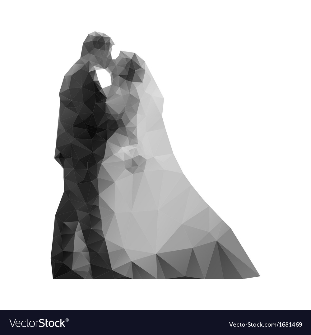 Wedding kiss the bride and groom vector | Price: 1 Credit (USD $1)