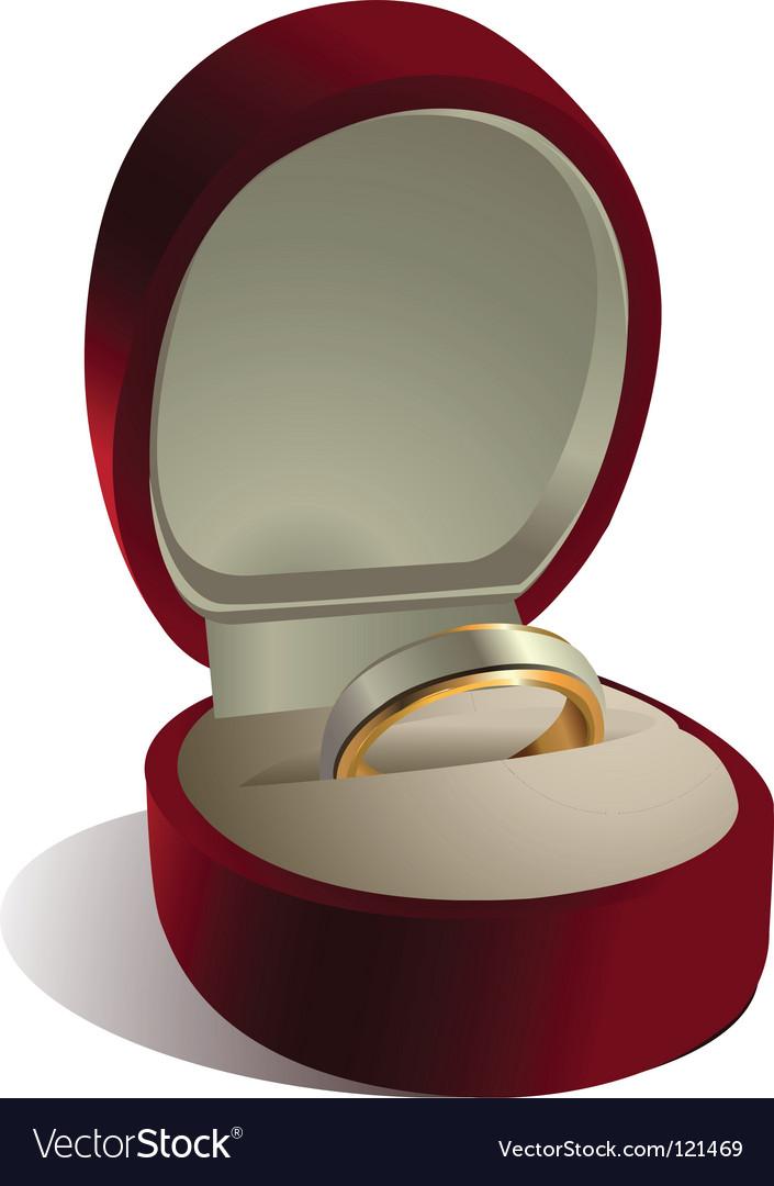 Wedding ring in box vector | Price: 1 Credit (USD $1)