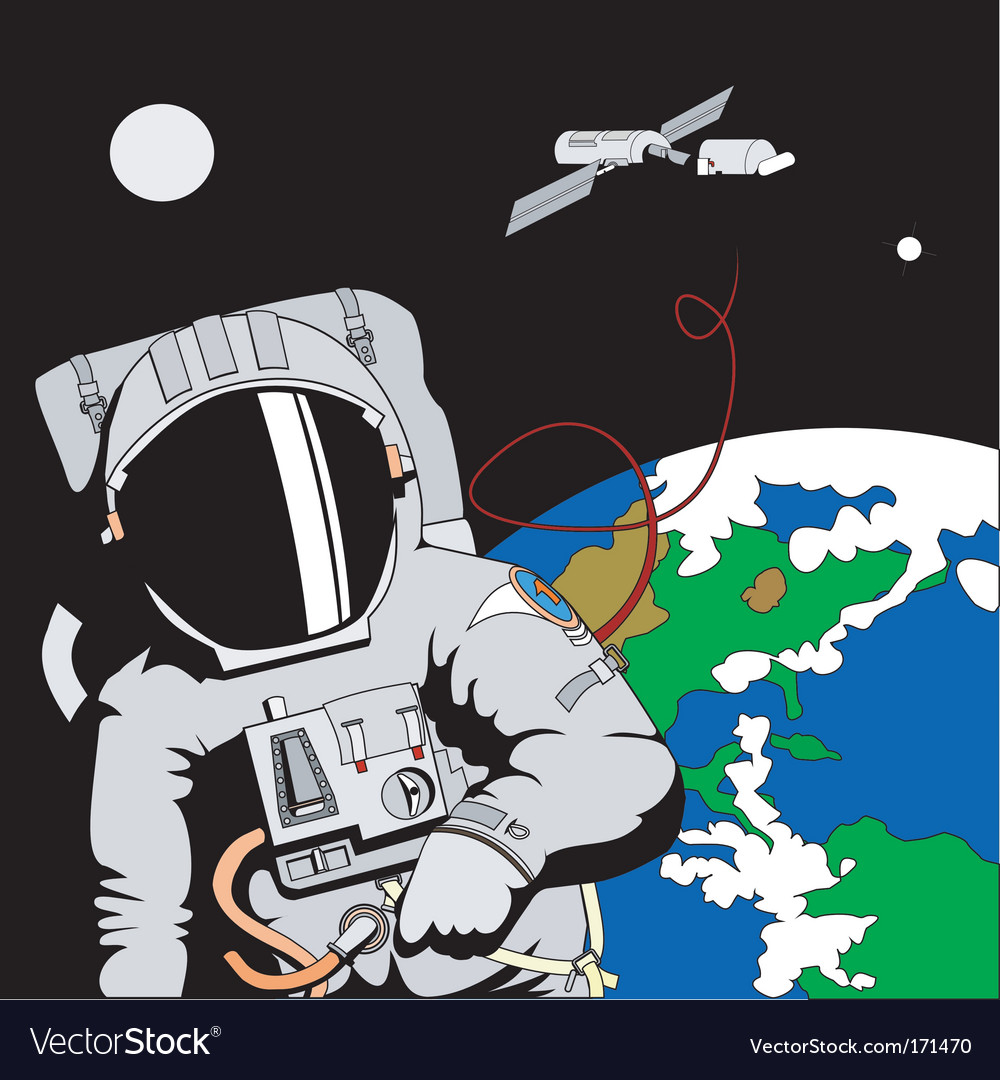 Astronaut in space vector   Price: 1 Credit (USD $1)