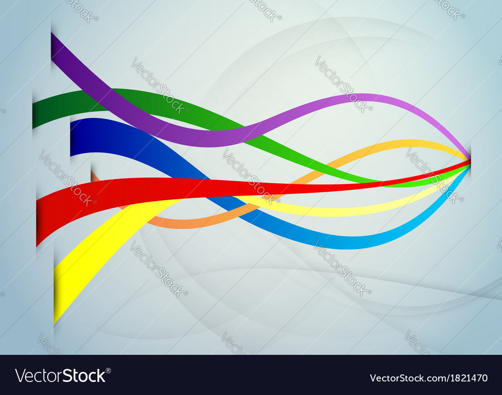 Basic colored ribbons background vector