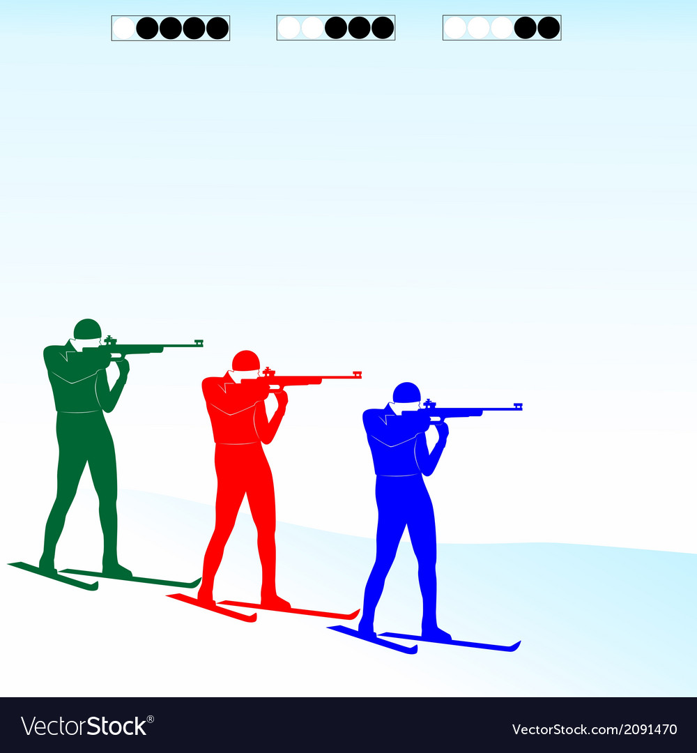 Biathlon competition vector | Price: 1 Credit (USD $1)