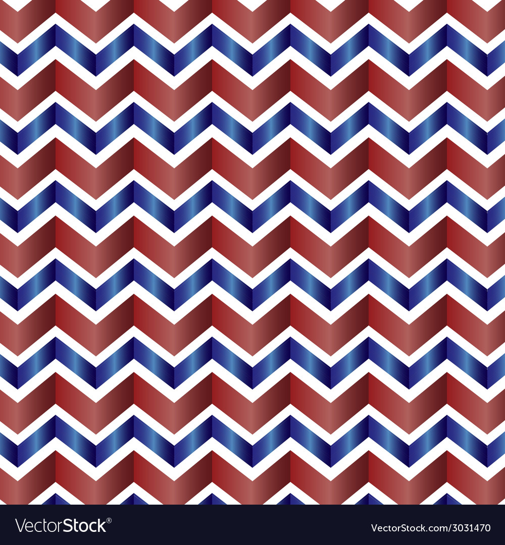 Chevron zig zag red white and blue vector | Price: 1 Credit (USD $1)