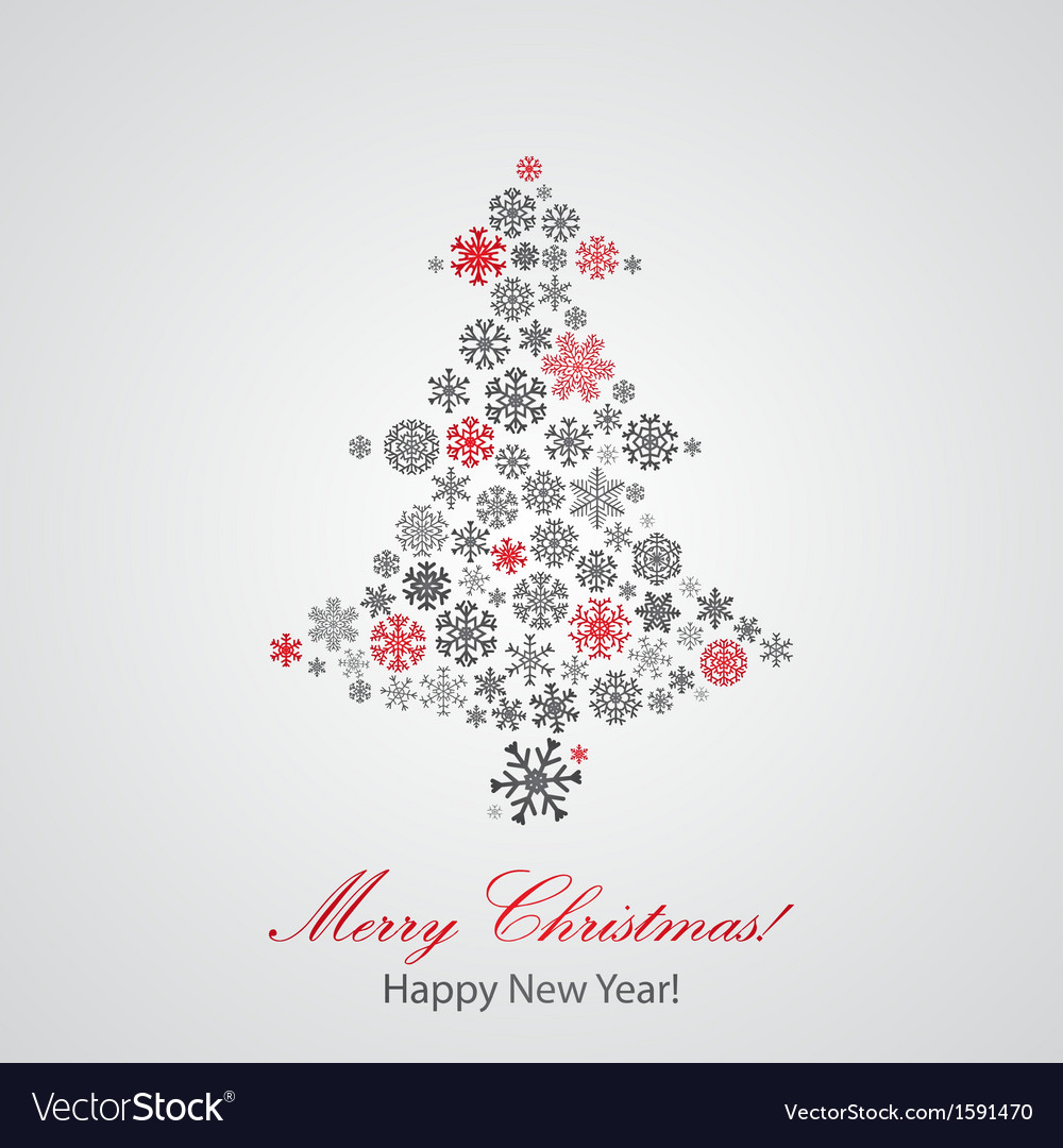 Christmas background with christmas tree vector | Price: 1 Credit (USD $1)