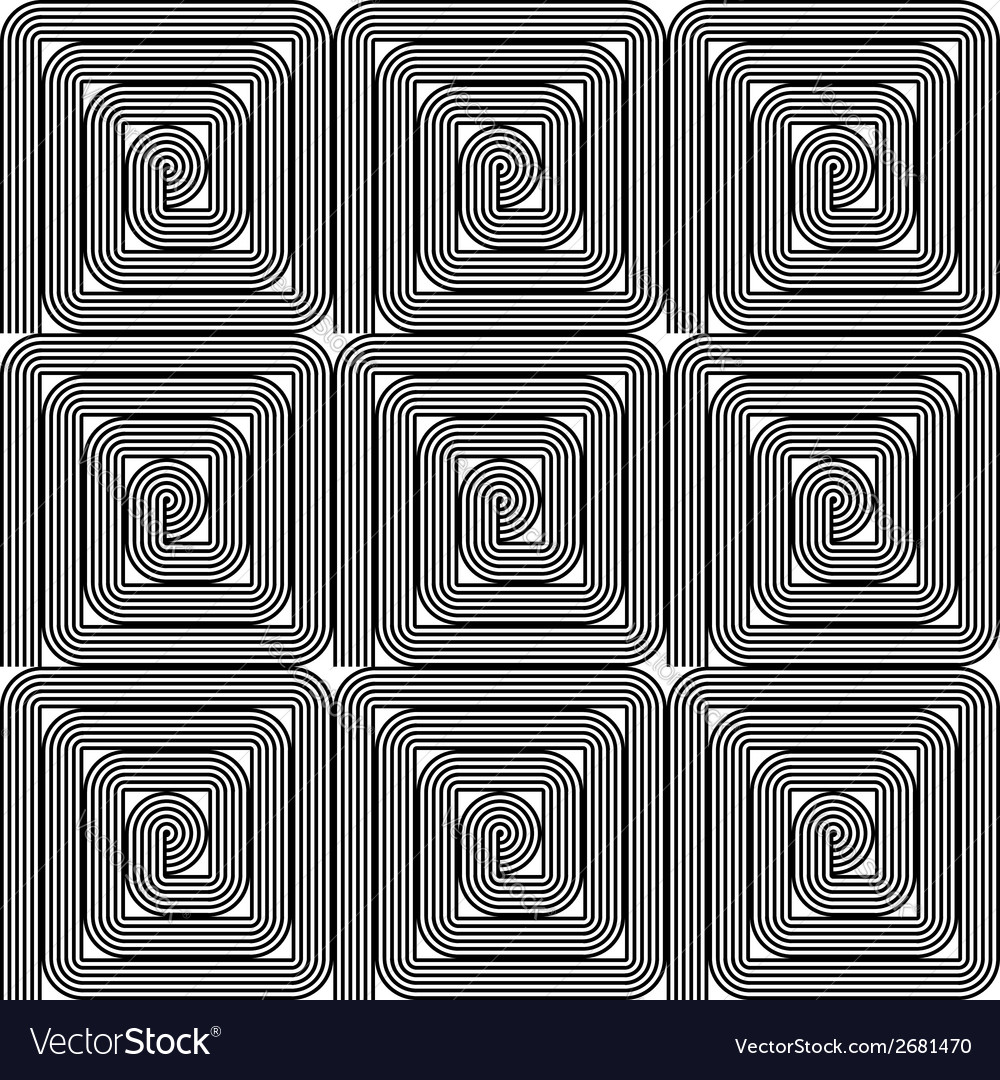 Design seamless monochrome labyrinth pattern vector | Price: 1 Credit (USD $1)