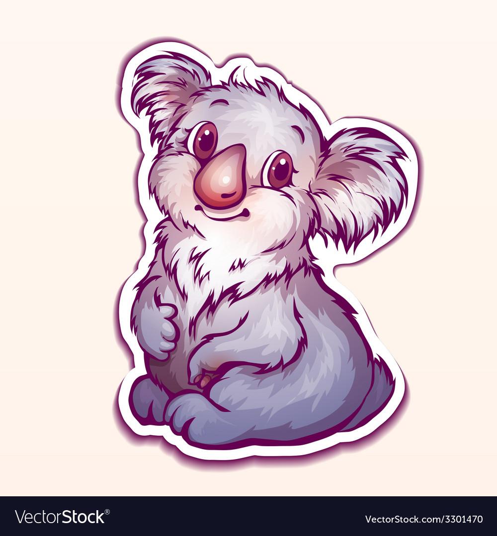 Koala in cartoon style vector | Price: 1 Credit (USD $1)