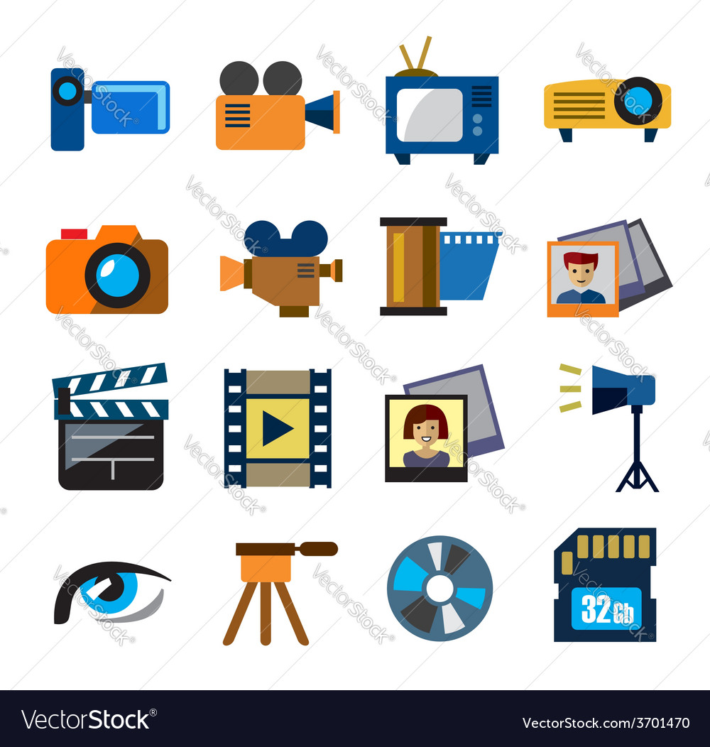 Movie technology vector | Price: 1 Credit (USD $1)
