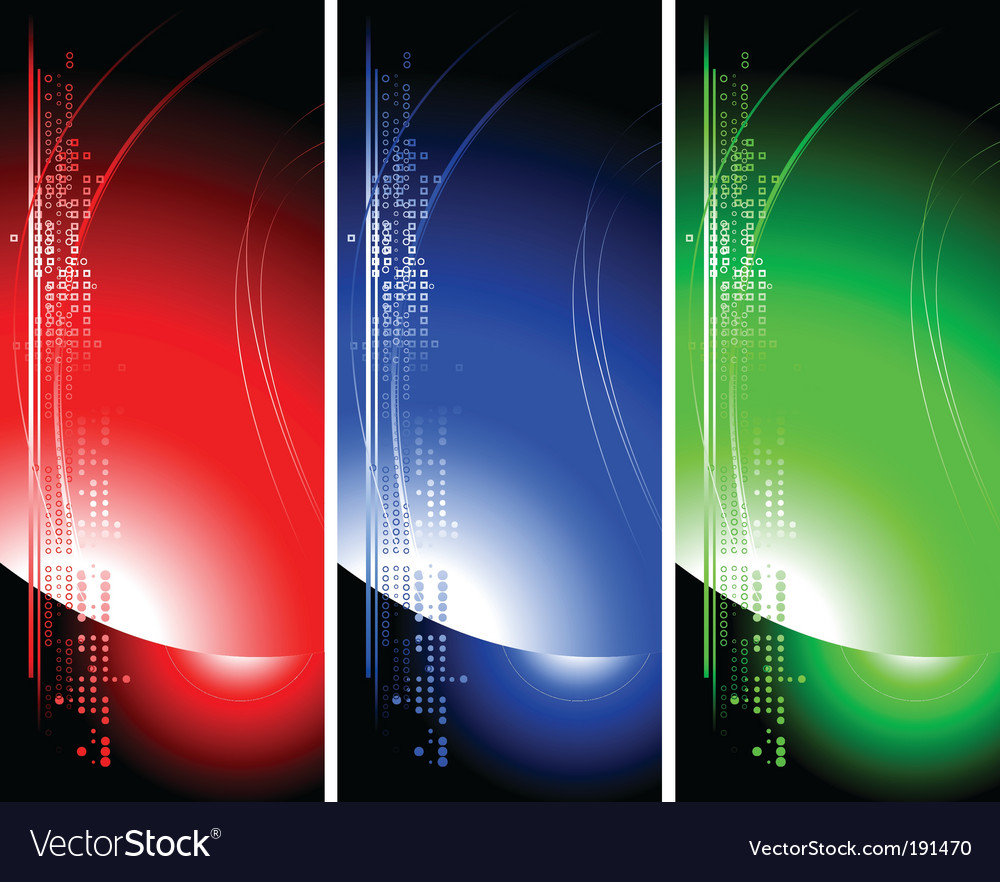 Set of bright technical banners vector | Price: 1 Credit (USD $1)