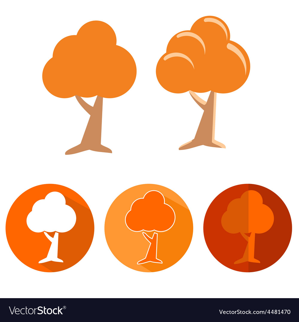 Set of tree icons vector | Price: 1 Credit (USD $1)