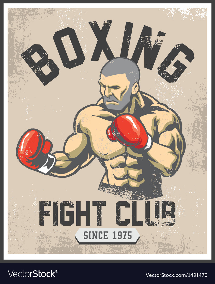 Vintage boxing poster vector | Price: 1 Credit (USD $1)