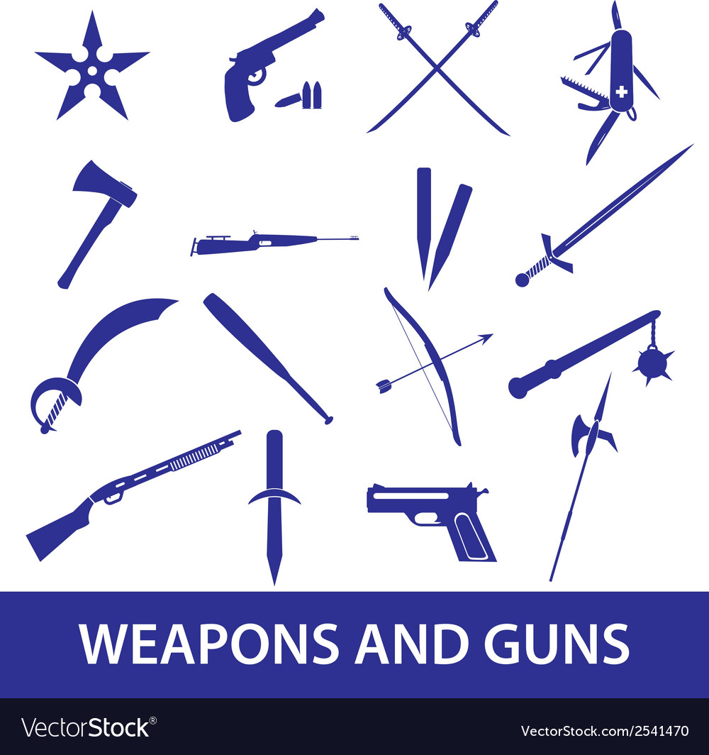 Weapons and guns icons eps10 vector | Price: 1 Credit (USD $1)
