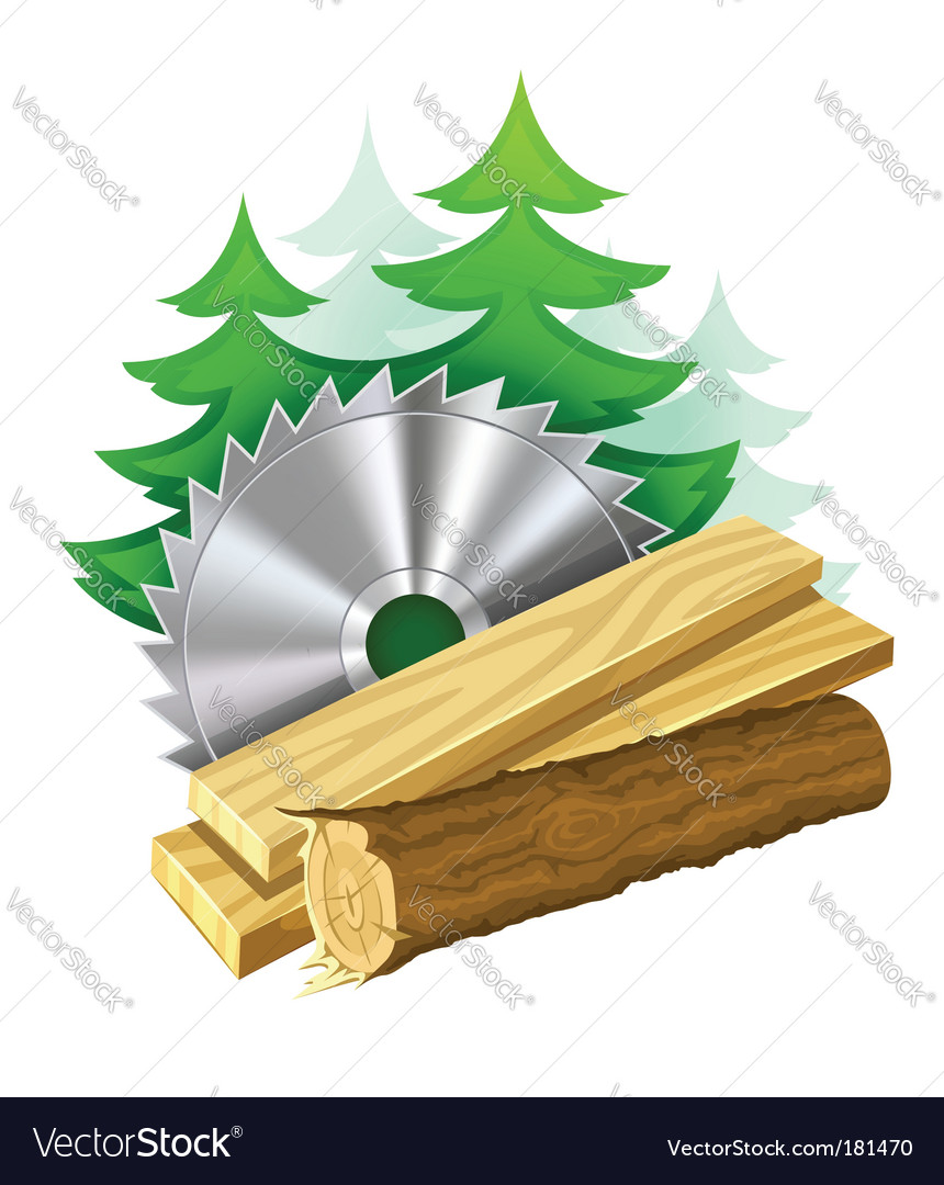 Woodworking industry icon vector | Price: 3 Credit (USD $3)