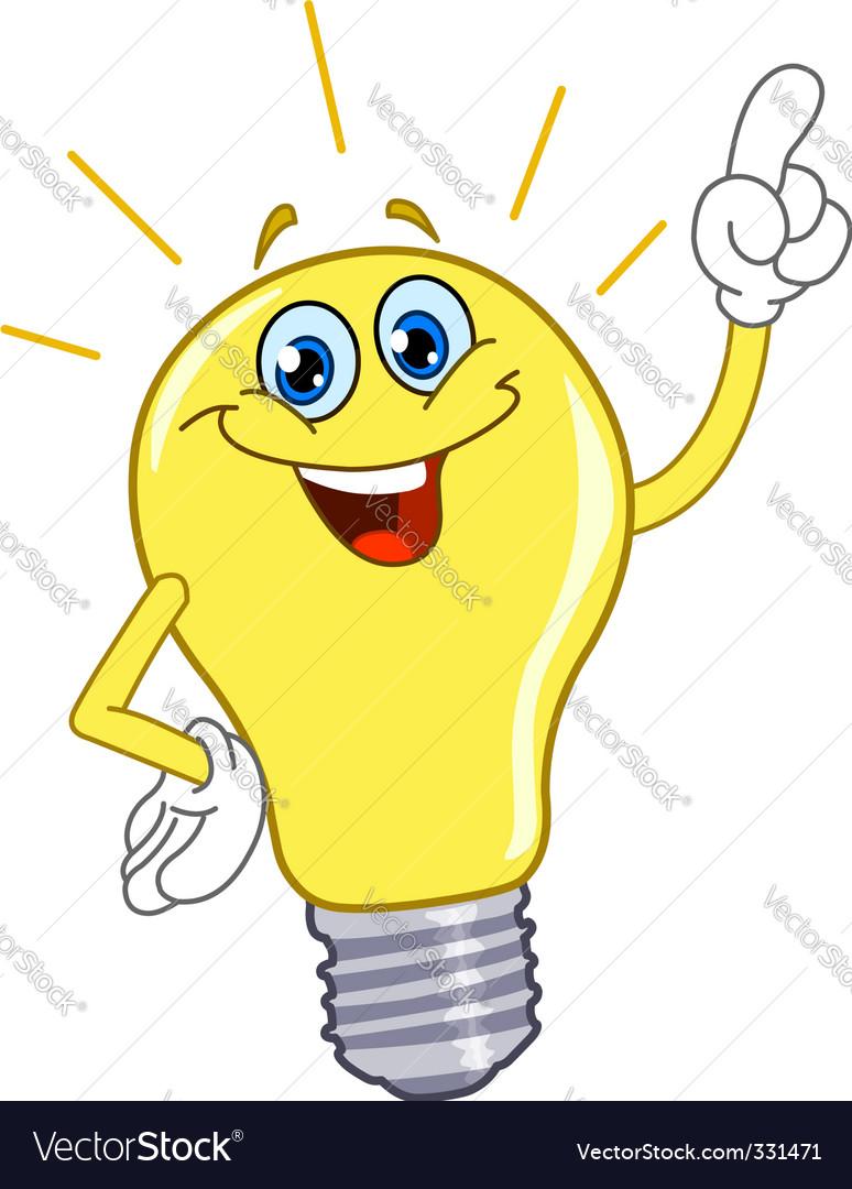 Cartoon light bulb vector | Price: 1 Credit (USD $1)