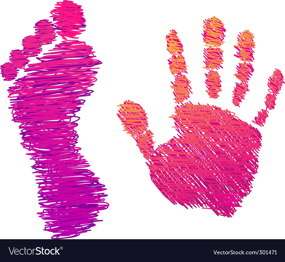 Hand and foot vector | Price: 1 Credit (USD $1)