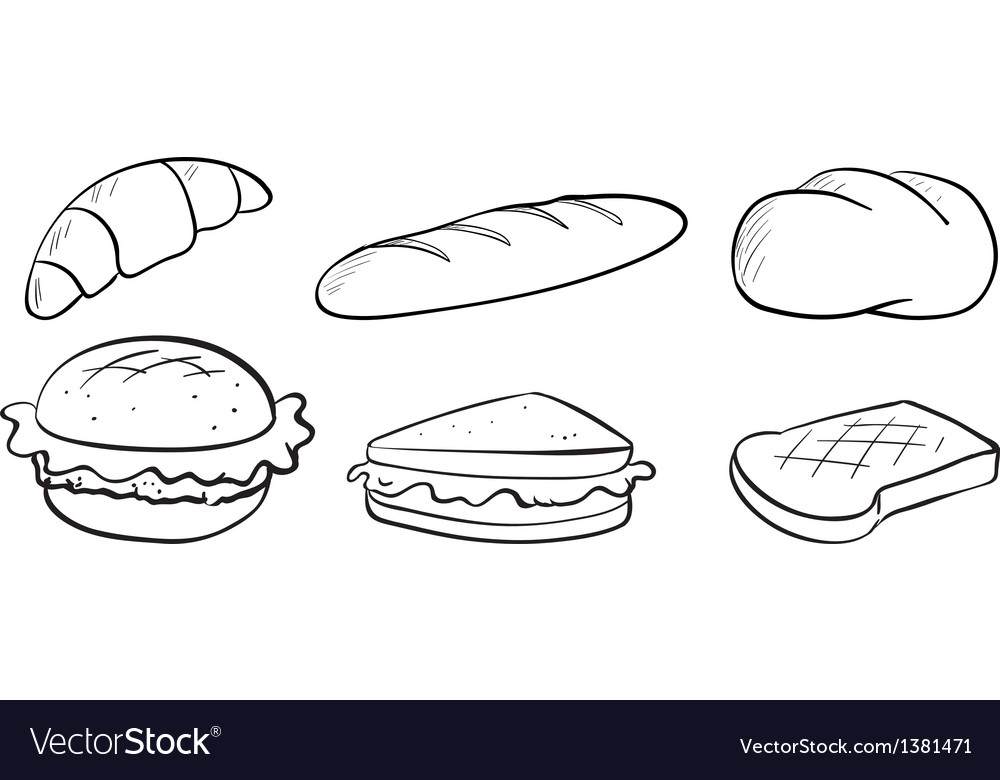 Silhouettes of bread vector | Price: 1 Credit (USD $1)