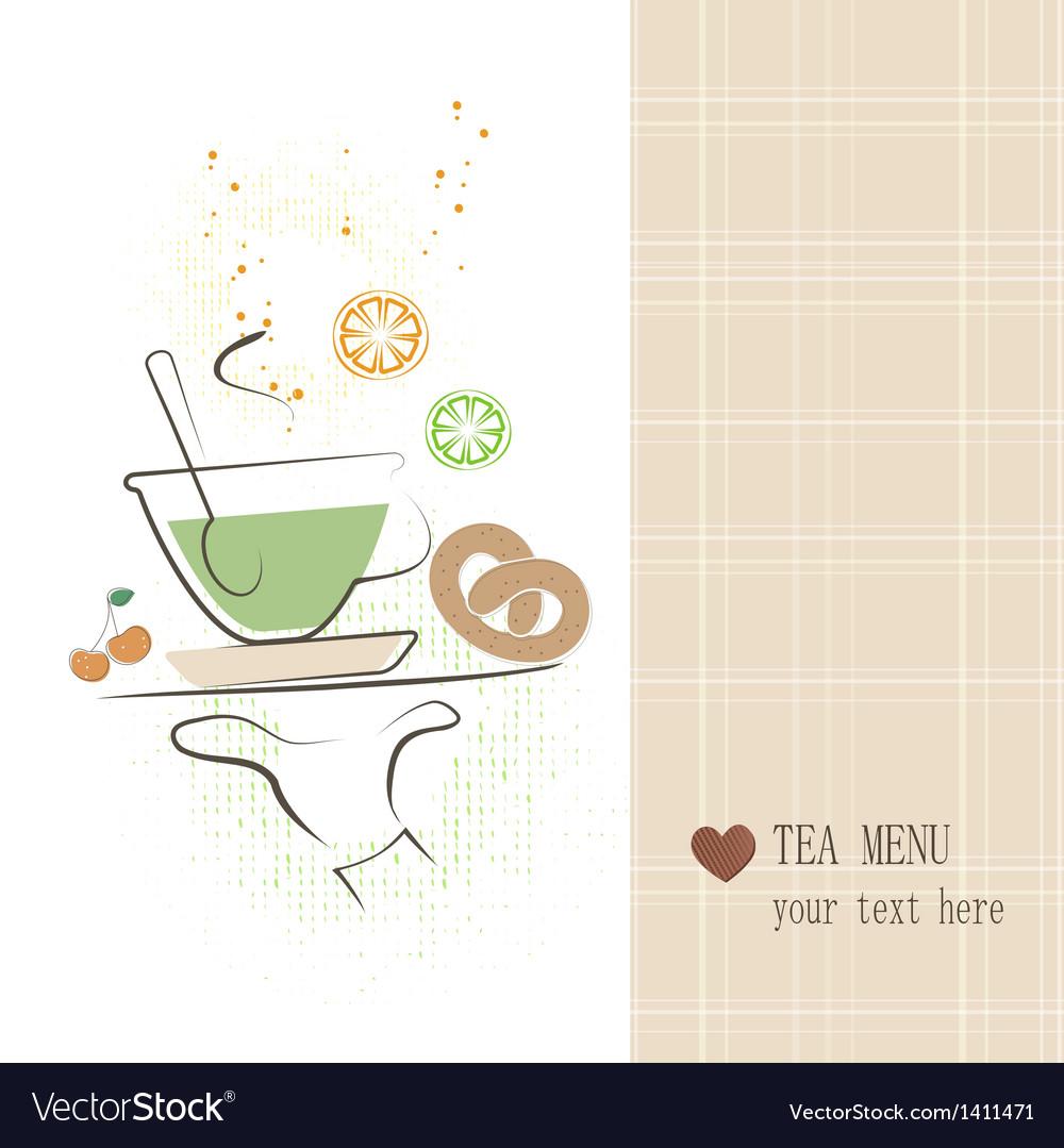 Tea menu vector   Price: 1 Credit (USD $1)