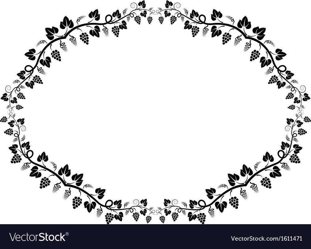 Vine frame vector | Price: 1 Credit (USD $1)