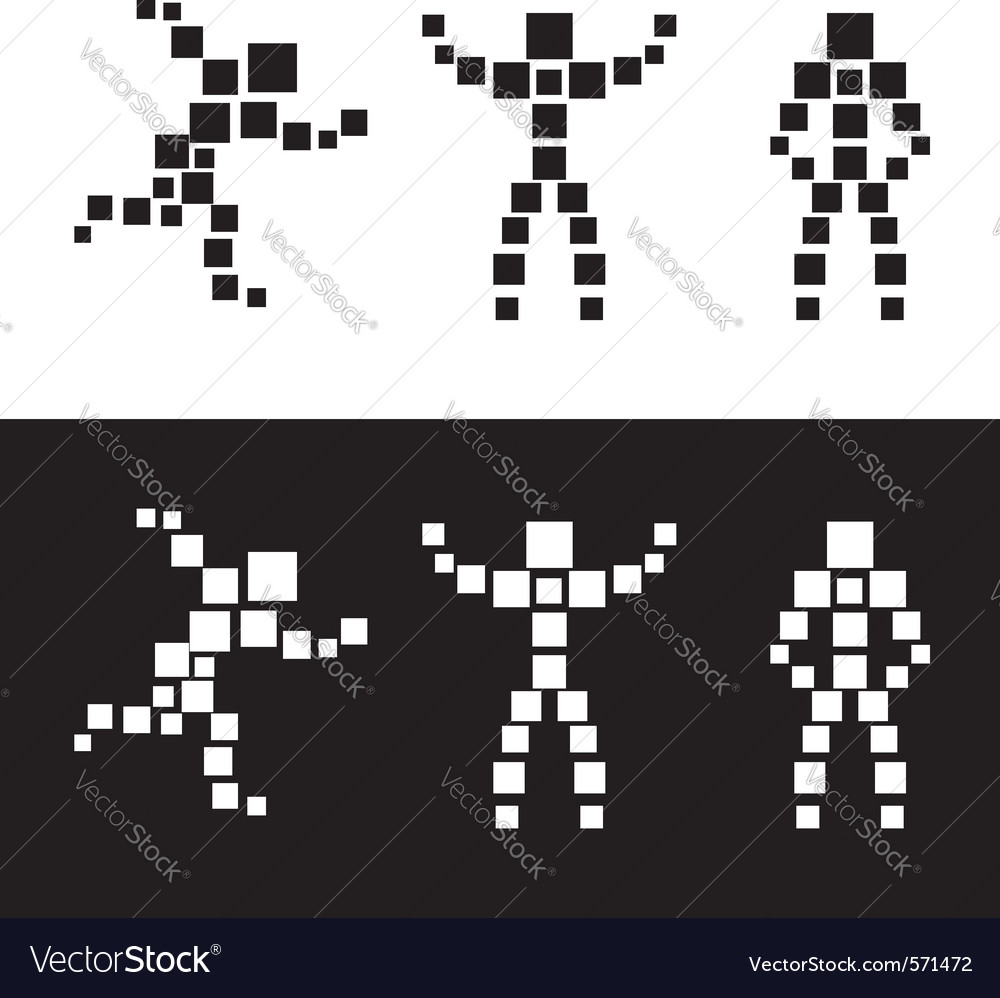 Abstract people blocks vector | Price: 1 Credit (USD $1)