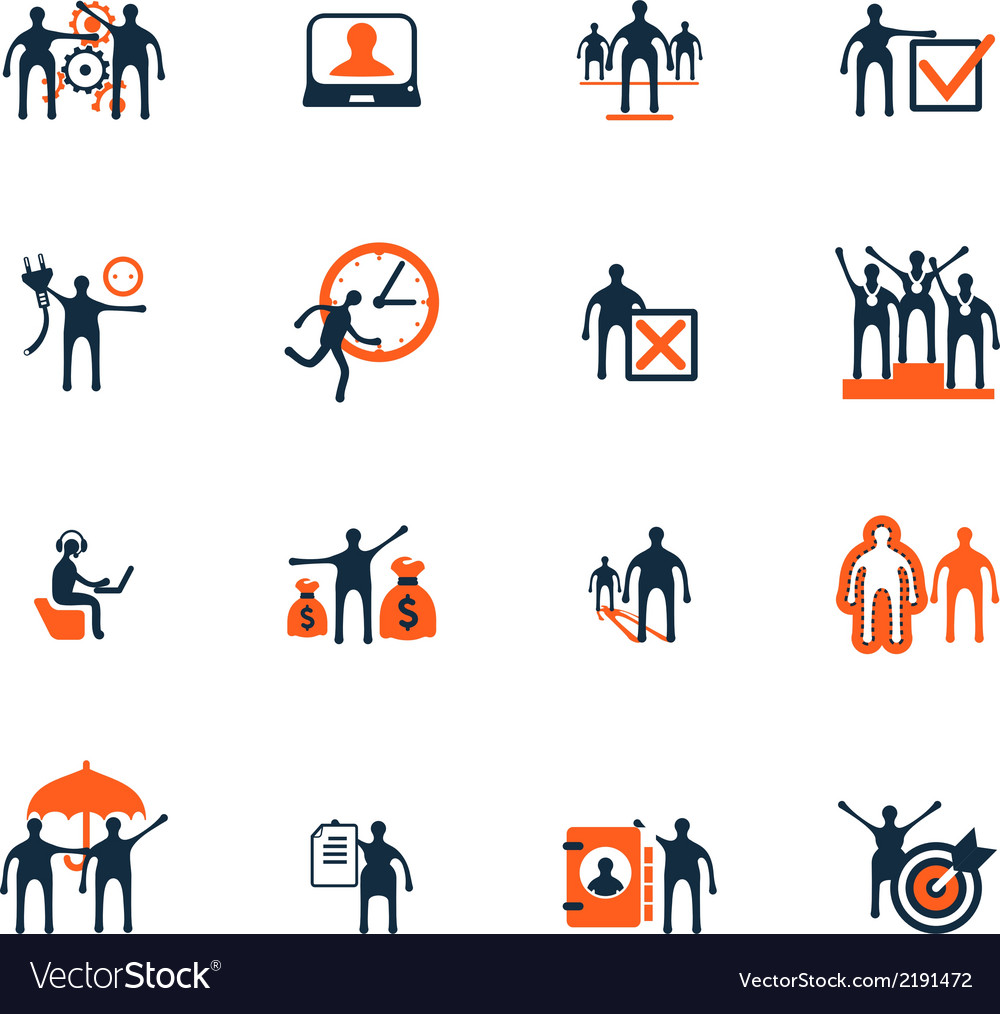 Business people icons management human resources vector | Price: 1 Credit (USD $1)