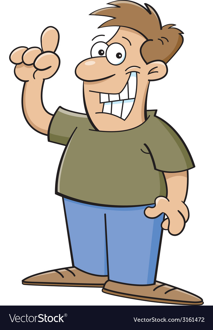 Cartoon man pointing vector | Price: 1 Credit (USD $1)