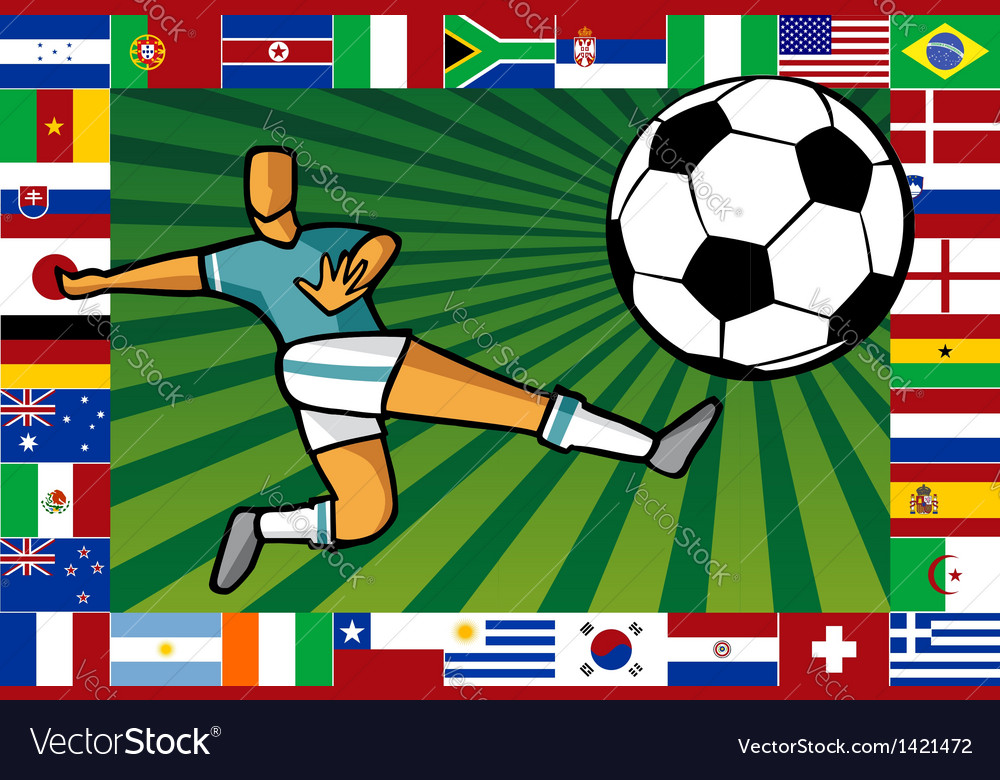 Championship south africa soccer cup poster vector | Price: 1 Credit (USD $1)