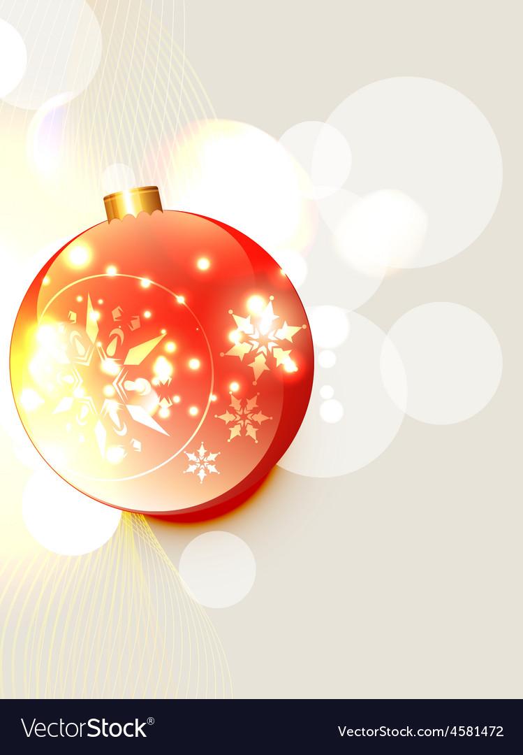 Christmas ball design vector   Price: 1 Credit (USD $1)